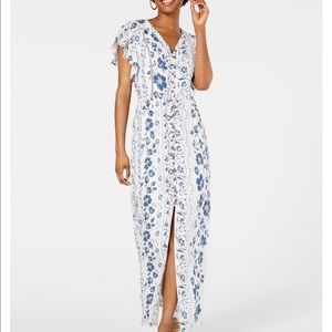 American Rag Fluttered Sleeve Maxi Dress